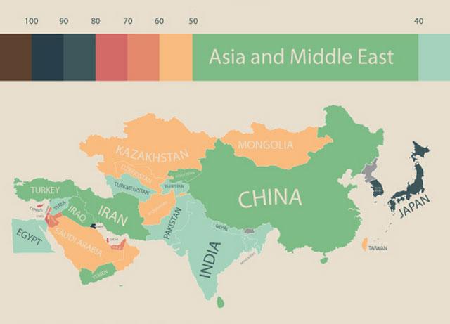 世界の物価:アジア