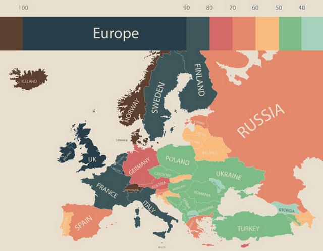 世界の物価:ヨーロッパ