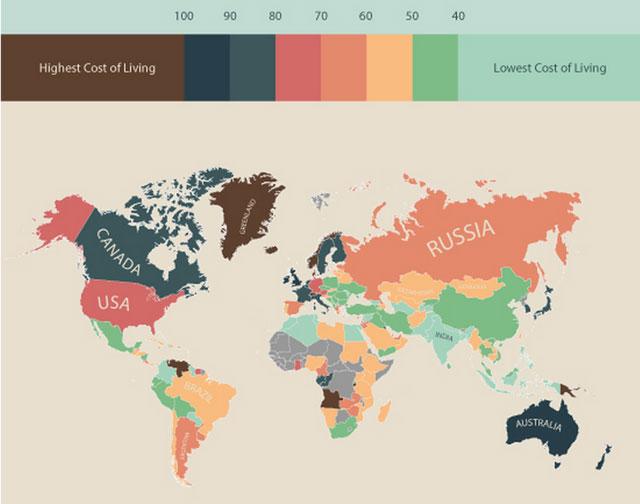 世界の物価:全世界