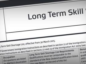 ニュージーランド不足職業リスト